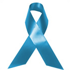 Blue support ribbon