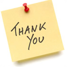Thnk you post-it note