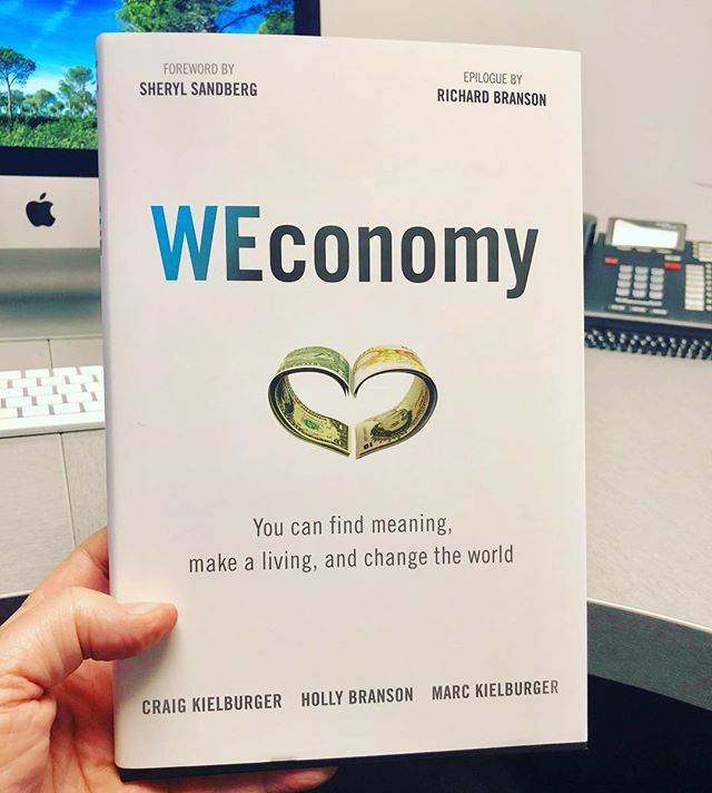 My next read! A BIG thank you to @drelainechin for the signed copy of #weconomy. What are you reading right now? #alwayslearning #lovetoread #rrilive #itsabeautifullife #makeitcount #thankful