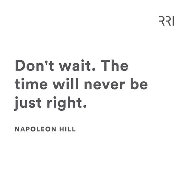 There is no time like the present. It's all about taking action and making things happen.  Agree? ✔️ . . . #businesscoach #realestate #realestatecoach #quotes #dailyinspo #qotd #positivity #action #goodvibes #justdoit